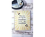 Crafter's Companion Clear Acrylic Quirky Stamp 2.5in x 3.5in - Be The Sunshine