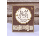 Crafter's Companion Clear Acrylic Quirky Stamp 2.5in x 3.5in - Chocolate