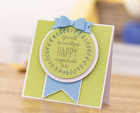 Crafter's Companion Clear Acrylic Quirky Stamp 2.5in x 3.5in - Happy As You