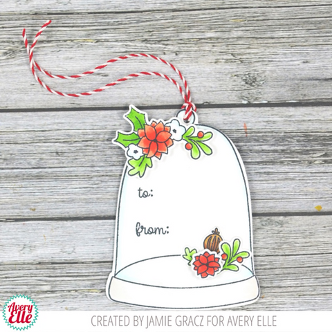 Avery Elle - Clear Stamp Set 4 inch X3 inch - Cloche