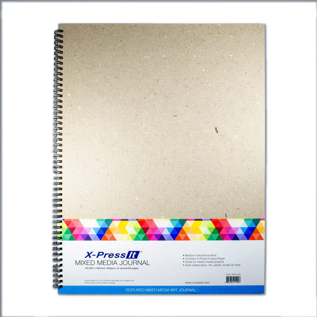 X-Press It - Mixed Media Journal A3 300gsm - 15 sheets