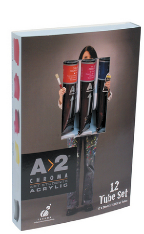 Chroma A2 Student Acrylic Set 12x20ml