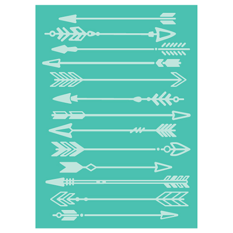 Cuttlebug 5 inch X7 inch Embossing Folder Arrows