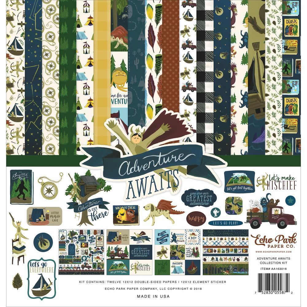 Echo Park Collection Kit 12x12 inch - Adventure Awaits