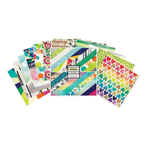 American Crafts - Vicki Boutin D/S Paper Pad 12x12in 24 pack - Colour Kaleidoscope