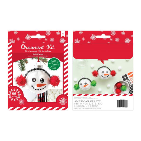 American Crafts Christmas Ornament Kit 4 per Pack - Snowman