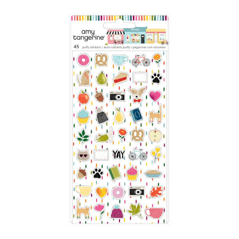 American Crafts - Amy Tan Slice Of Life Collection - Mini Puffy Stickers