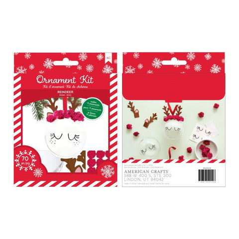 American Crafts Christmas Ornament Kit 4 per Pack - Reindeer