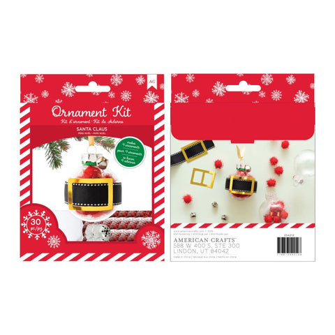 American Crafts Christmas Ornament Kit 4 per Pack - Santa Claus Gold Foil