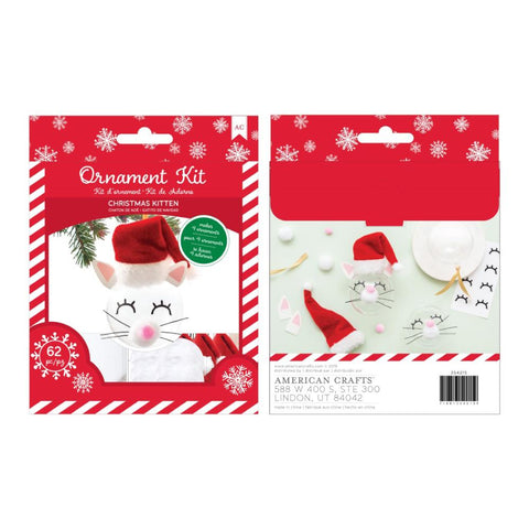 American Crafts Christmas Ornament Kit 4 per Pack - Christmas Kitten