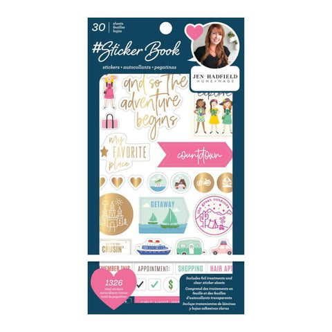 American Crafts - Jen Hadfield Sticker Book With Foil Accents