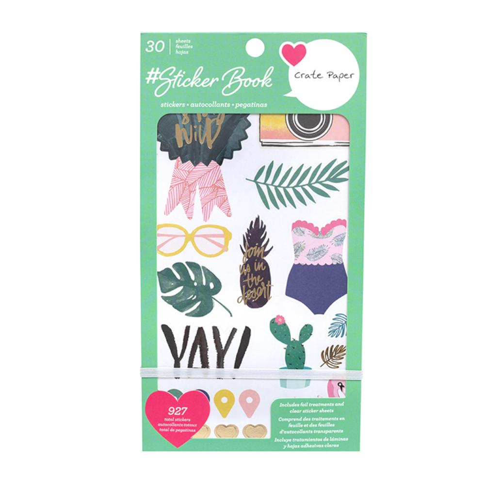 American Crafts - Crate Paper Sticker Book With Foil Accents