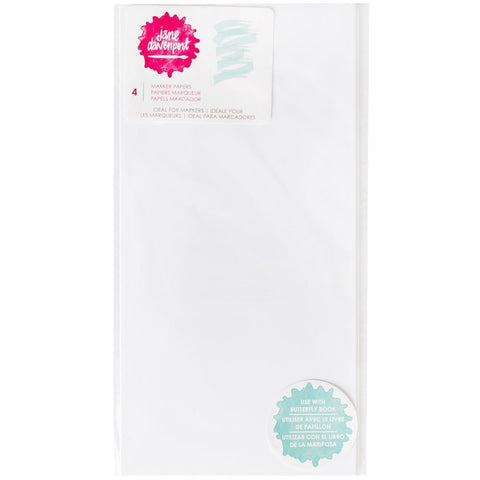 Jane Davenport Butterfly Effect Paper Inserts 4 pack - Marker