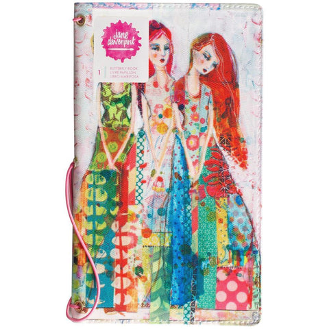 Jane Davenport Butterfly Effect Canvas Cover Book 5x9 inch - Sisters With 2 Elastics & 4 Paper Inserts