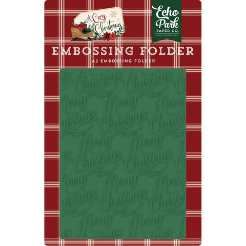 Echo Park - Embossing Folder A2 - Merry Christmas