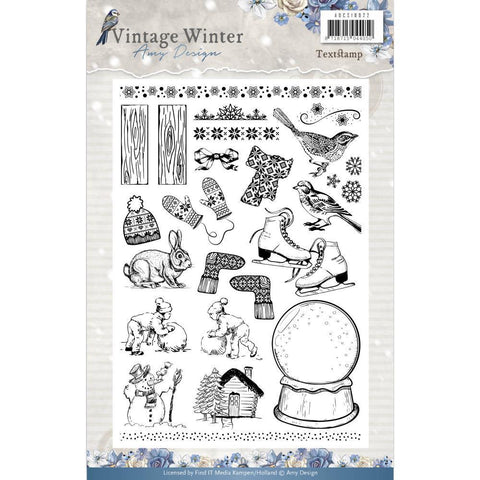 Find It Amy Design - Vintage Winter Clear Stamps - Icons