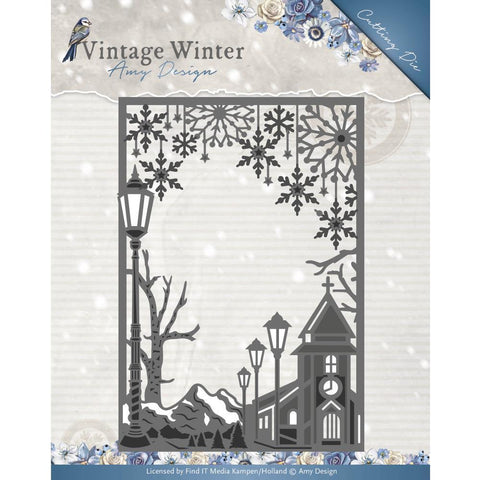 Find It Trading - Amy Design Vintage Winter Die - Straight Village Frame