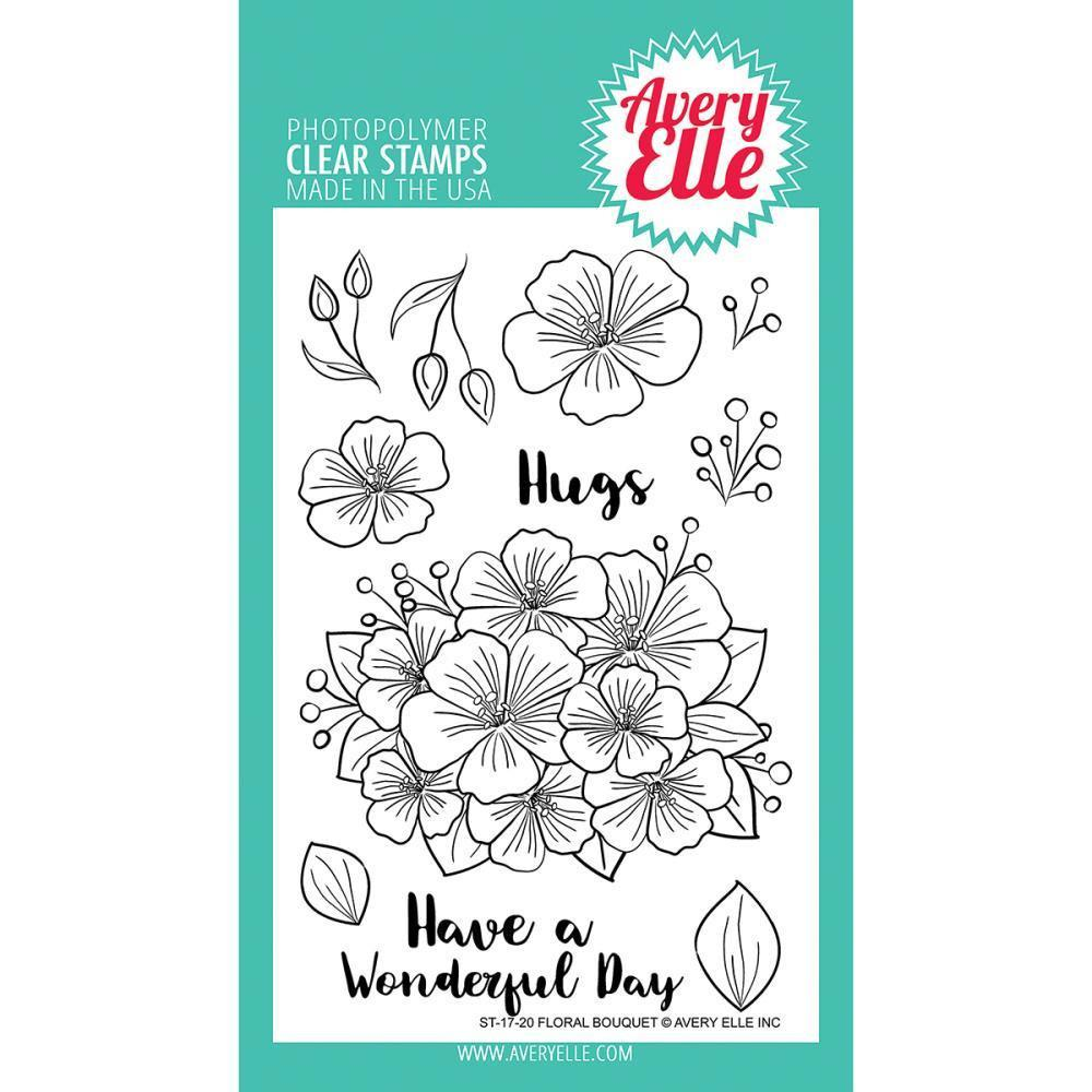 Avery Elle Clear Stamp Set 4x6 inch - Floral Bouquet
