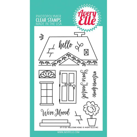Avery Elle Clear Stamp Set 4x6 inch - Welcome Home