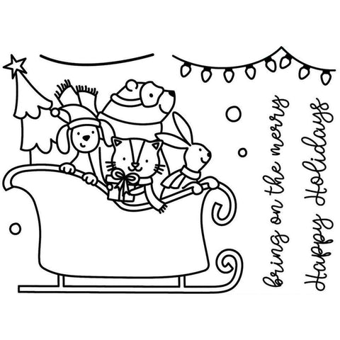 Avery Elle Clear Stamps - Sledding Critters