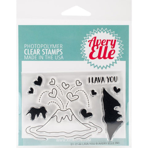 Avery Elle Clear Stamp Set 4x3 inch - Lava You