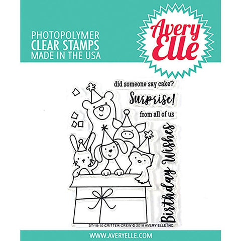 Avery Elle Clear Stamp Set 4x3 inch - Critter Crew