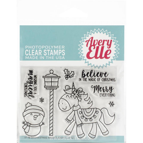 Avery Elle Clear Stamp Set 4x3 inch - Christmas Magic