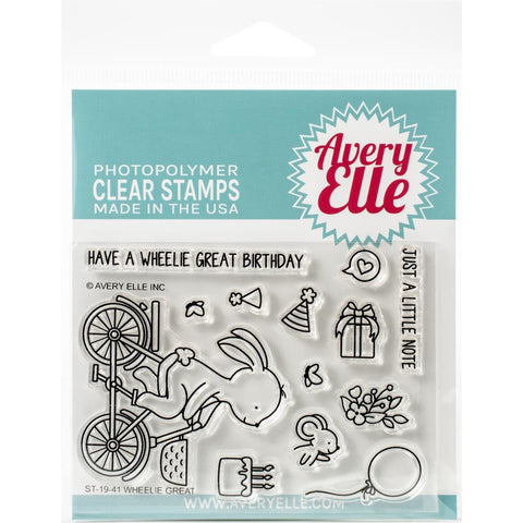 Avery Elle Clear Stamp Set 4in x 3in - Wheelie Great