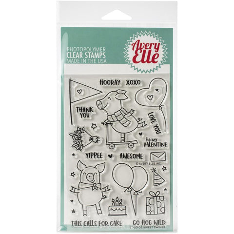Avery Elle Clear Stamp Set 4X6in - Sweet Swines