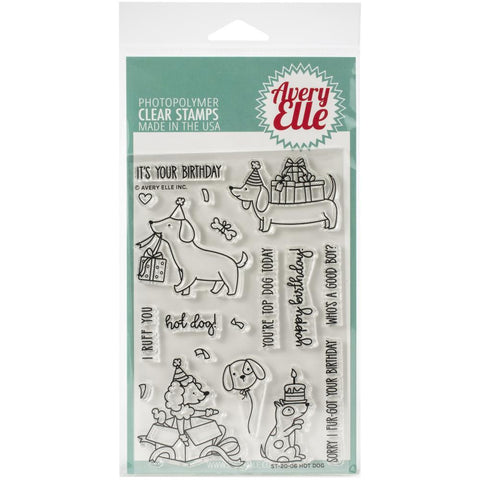 Avery Elle Clear Stamp Set 4X6in - Hot Dog