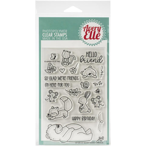 Avery Elle Clear Stamp Set 4X6in - Beary Good Friends