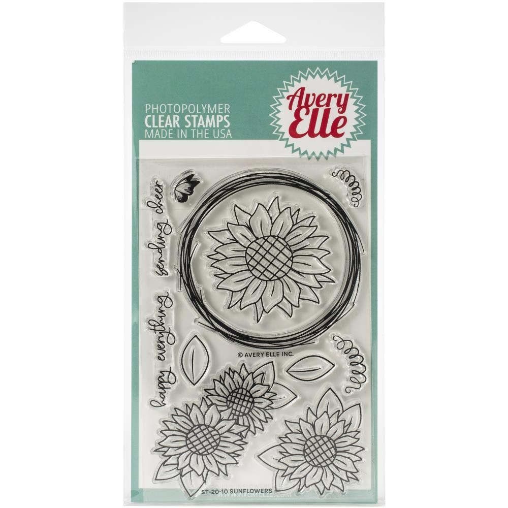 Avery Elle Clear Stamp Set 4X6in - Sunflowers