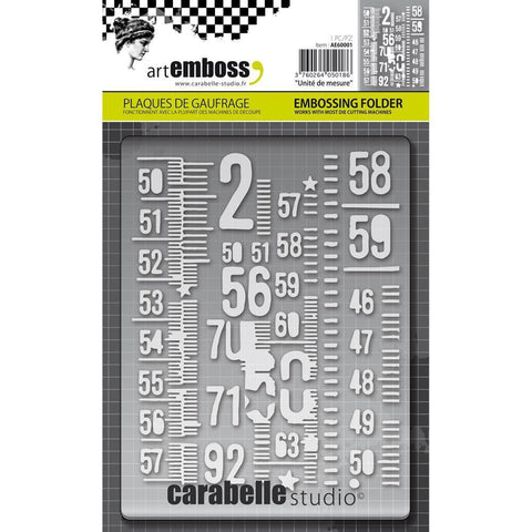 Carabelle Studio Embossing Folder - Unite De Measure