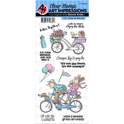 Art Impressions - Work and Play Clear Stamps - Enjoy The Ride