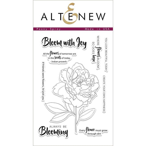 Altenew Stamp Set - Peony Spray