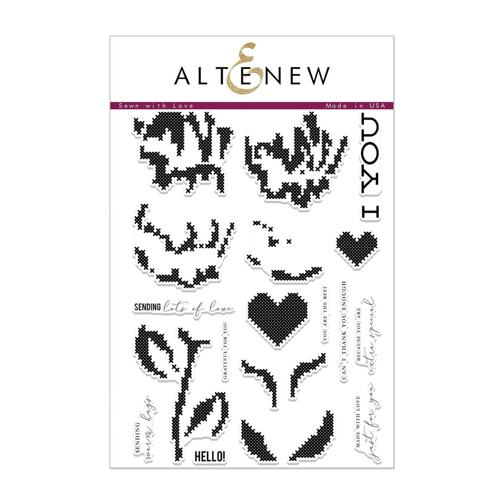 Altenew Stamp Set - Sewn with Love