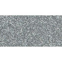 American Crafts 12x12 inch Glitter Cardstock - Silver