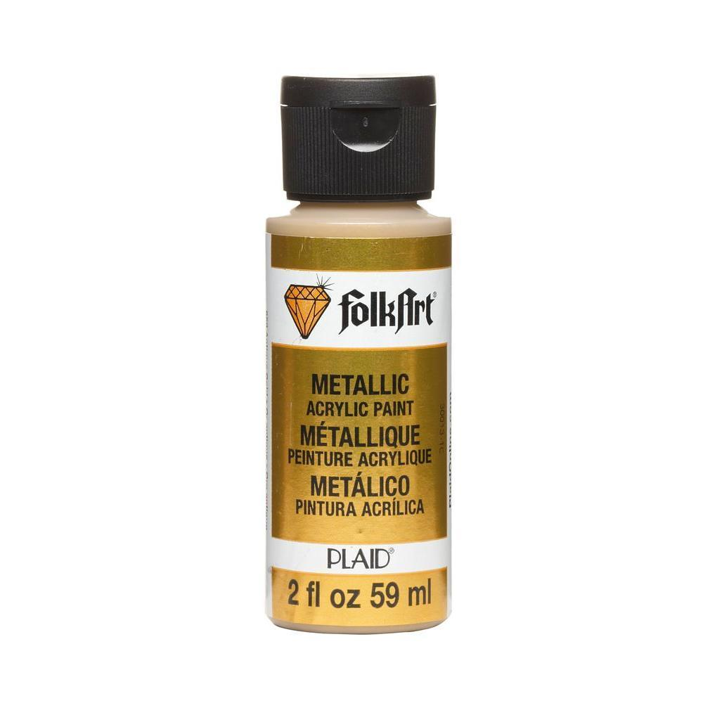 FolkArt Metallic Acrylic Paint 2oz - Antique Gold