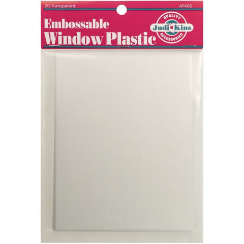 Embossable Window Plastic Sheets 4.25 inch X5.5 inch 20 pack Clear