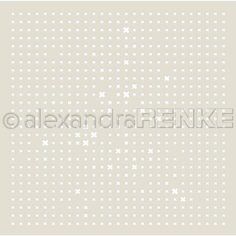 Alexandra Renke Stencil 6x6 inch - Grid Of Crosses