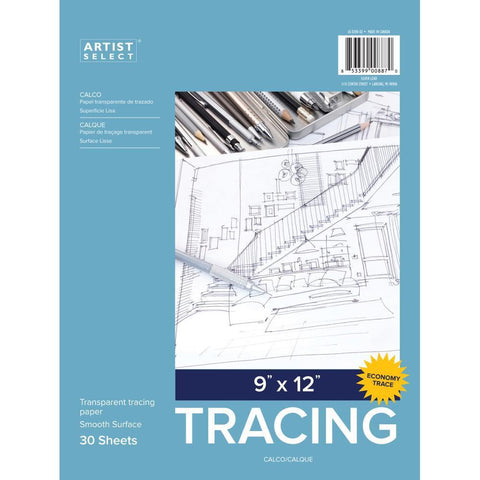 Artist Select Advantage Tracing Pad 9x12 inch 30 Sheets