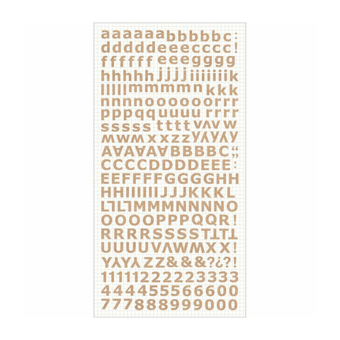 Kaisercraft Alphabet Stickers 6in x 12in - Natural