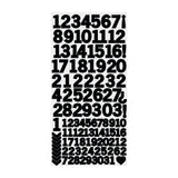 Kaisercraft Number Stickers 6in x 12in - Black