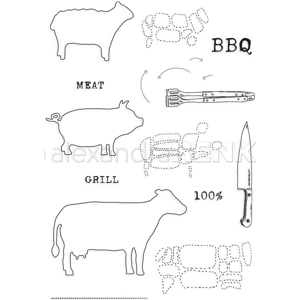 Alexandra Renke Cooking Clear Stamps - Gourmet Animals