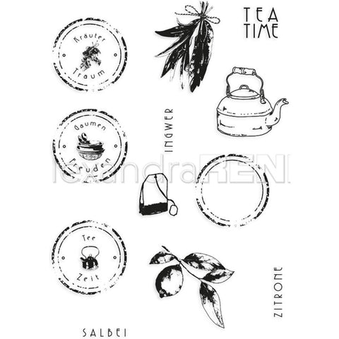 Alexandra Renke Cooking Clear Stamps - Tea