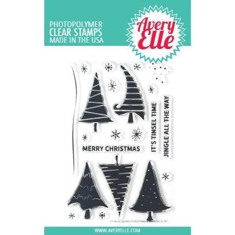 Avery Elle Clear Stamp Set 4x6 inch - Quirky Christmas