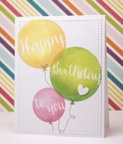 Avery Elle Clear Stamp Set 4x6 inch - Balloons