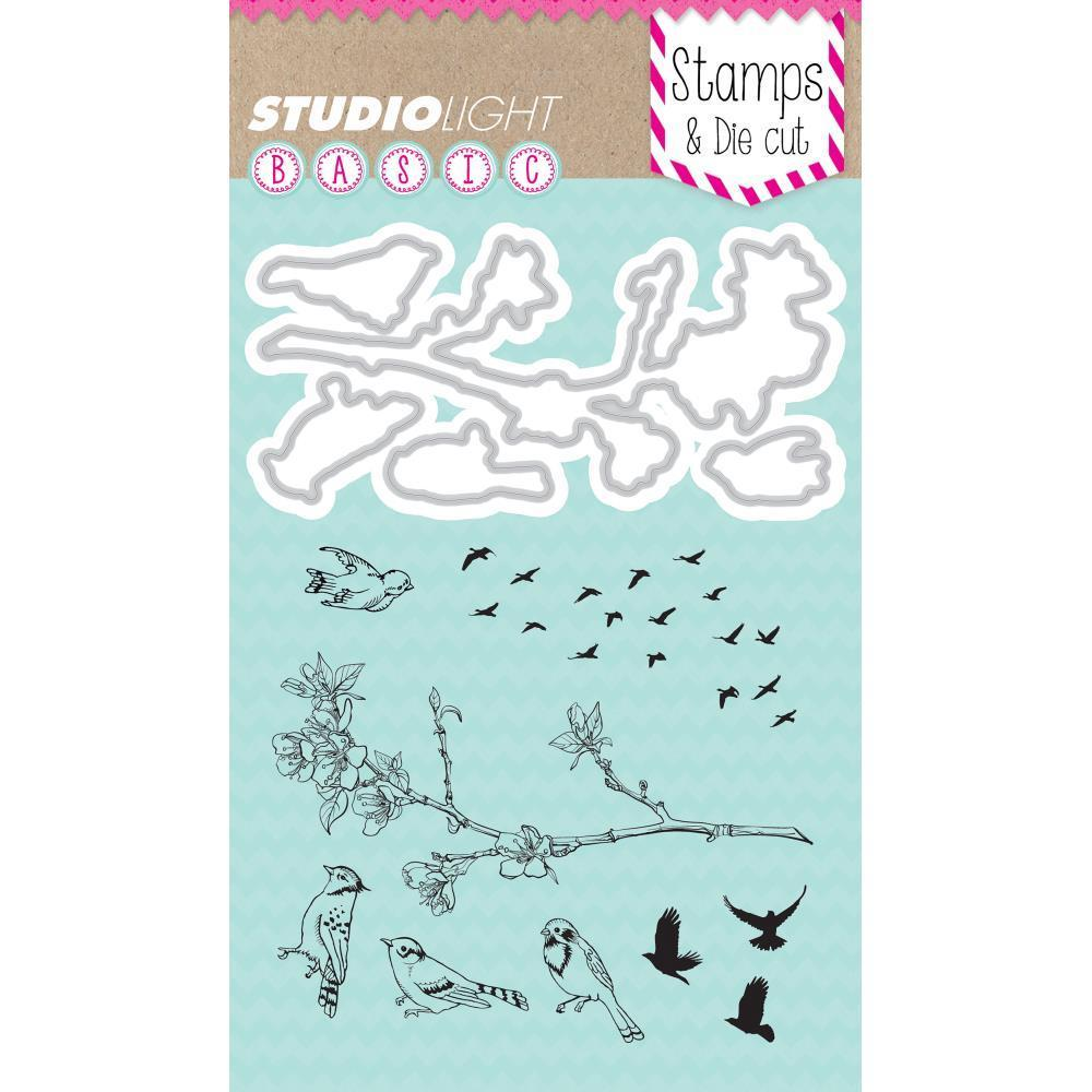 Studio Light Basic Stamp & Die Set - Birds