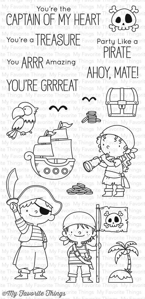 My Favorite Things - BB Party Like a Pirate - clear stamp set