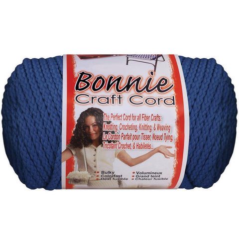 Bonnie Macrame Craft Cord - 4mm 100yds - Prussian Blue
